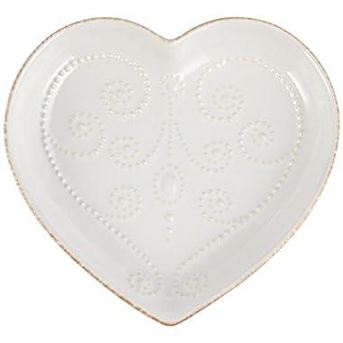 Lenox French Perle Heart Dish, White