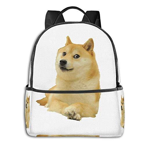 Doge Shibe Meme - Mochila clásica para estudiante escolar, ciclismo, ocio, viajes, camping, al aire libre