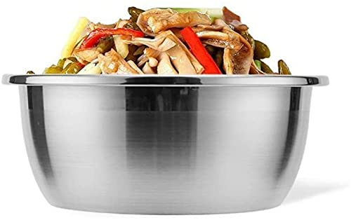 Prep bowls Stainless Steel Mixing Bowls Kitchen Food Storage Organizers for Serving Mixing Cooking Baking Home Kitchen Silver 16CM (Color : Silver, Size : Size 6)