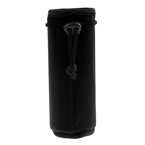MagiDeal Sac Bouteille d'eau Couvre-Boisson Housse Isotherm Bidon Accessoire Camping Randonnée - Noir, 500 ML