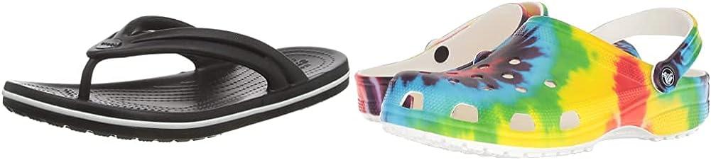 Crocs Men's and Women's Classic Clog & Sandal 2-Pack Bundle