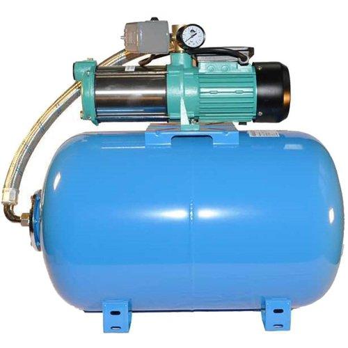 Hauswasserwerk Wasserpumpe 400V 1500W inkl Druckbehälter 24, 50, 80 oder 100L Gartenpumpe Set (100 L)