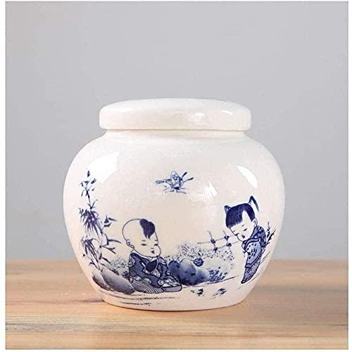 Urna de cerámica hecha a mano urna de entierro urna humana medianas y pequeñas urnas conmemorativas mini urna funeraria para adultos cenizas de mascotas urnas