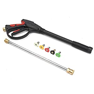 Tbaobei-Baby Hose Nozzle Pressure Washer Gas Power Gun Car Cleaning Lance/Wand Kit & 5 Spray (Color : Black) from Tbaobei