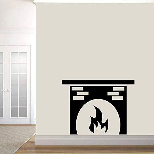Calcomanía de pared de chimenea, pegatinas de pared, cocina, sala de estar, formas creativas, decoración del hogar, arte extraíble, decoración de restaurante, A1 57x76cm