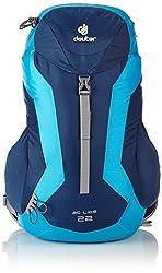 Deuter Unisex Adult Hiking Backpack Ac Lite, midnight-turquoise, 55 x 30 x 20 cm, 22 Liter, 3462133060