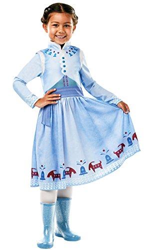 Rubie 's 640766l Offizielles Disney Frozen Anna Kostüm–Olaf 's Frozen Abenteuer, Kinder große Jahren, Höhe 128cm, 7–8