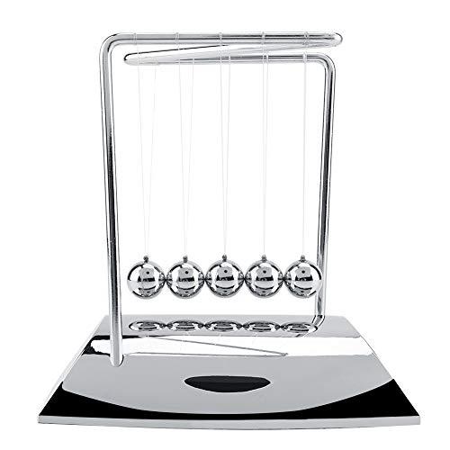 Péndulo de Newton, Adorno Escritorio, 5 Bolas, Bola de Péndulo de Ciencia Física, Juguete Divertido de Escritorio de Bola de Cuna Newton, 18,5 x 12 x 20 cm