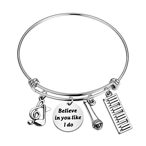 CHOORO Piano Lover Gift Music Lover Bracelet Believe in You Like I Do Bracelet Pianist Gift Piano Recital Gift Piano Students Jewelry (Believe in You-Piano br)