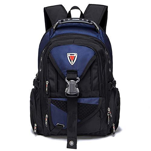 Ssszx - Zaino per computer portatile da 17 pollici in tessuto Oxford borsa da viaggio multifunzionale per la scuola resistente all'acqua per attività all'aperto per donne e uomini, blu navy