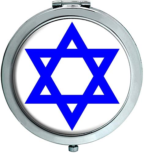 Star de David Juif Miroir Compact