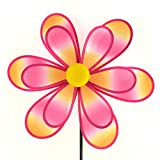 Midwest Design Imports Ombre Spinning Flower Garden Flag, 34', Pink