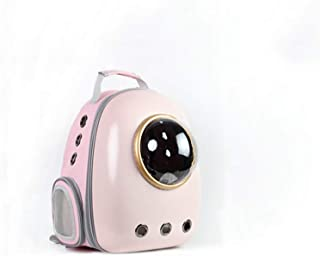 Portable Pet Bag Outdoor Pet Travel Bag Breathable Easy to Carry Pink 33×29×44cm Makfacp (Color : Gold)