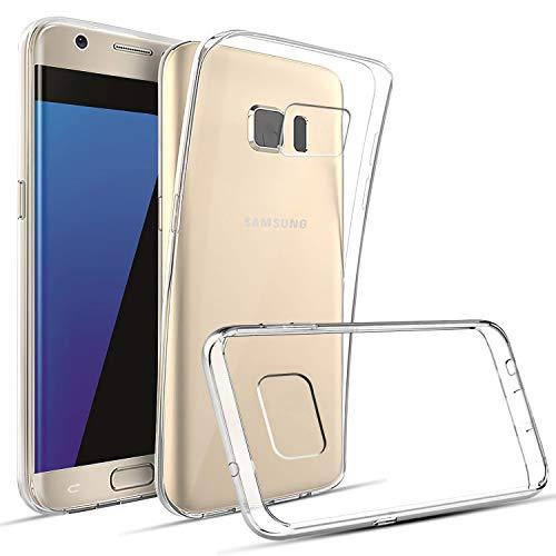 DOSMUNG Hülle kompatibel mit Samsung Galaxy S7 Edge, Transparent Handyhülle für Galaxy S7 Edge Schutzhülle, HD Klar Soft Silikon Anti-Kratz Rückseite Backcover TPU Case für Samsung Galaxy S7 Edge