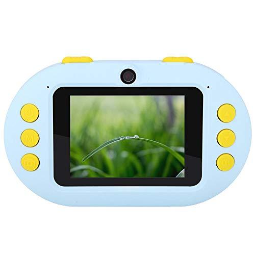 Garsent draagbare mini-kinder-HD-camera, IP68-waterdichte digitale 2,4 inch videocamera met dubbele lens (800 W frontcamera + 800 W achtercamera)