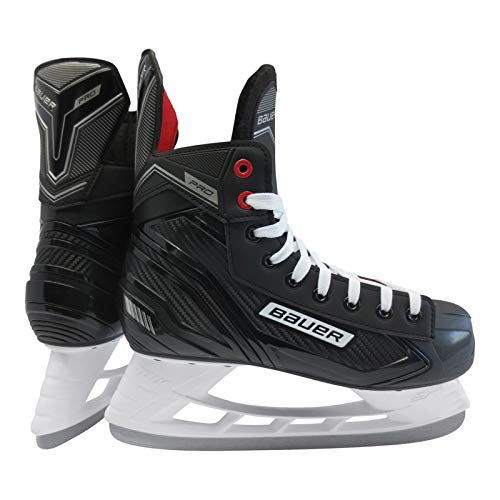 Bauer Herren Pro Skate Sr Feldhockeyschuhe, Schwarz (Schwarz-Weiss-Rot-SI 900), 44.5 EU