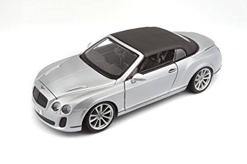 Bburago 11037S - Modelauto 1:18 Bentley Continental Supersports Convertible, zilver