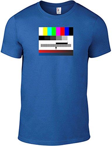 T-Shirt Testbild/Motivshirt/Funshirt / 6 Farben/S-XXL (Blau XL)