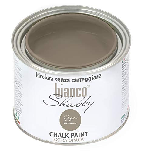 CHALK PAINT Grigio Tortora Pittura Shabby Chic Vintage per Mobili e Pareti EXTRA OPACO (500 ml)
