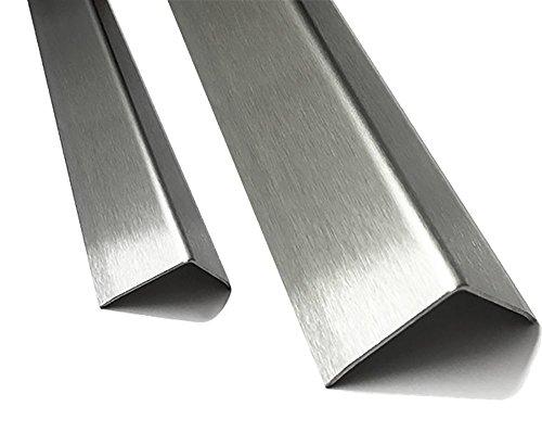 1 Edelstahl Winkel 90°-1 fach gekantet axb= 10 x 10mm 1,0 x 1.250mm Aussen Schliff Korn 320