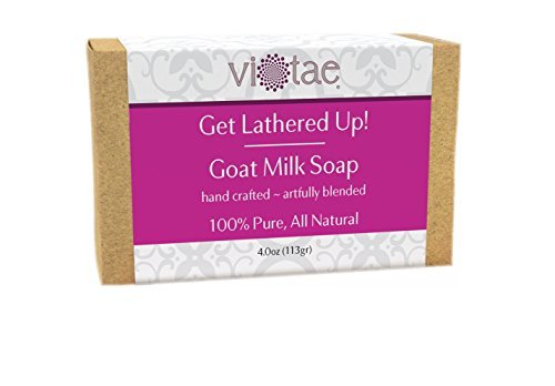 Vi-Tae 100% Natural and Organic Handmade 'Get Lathered Up' 4oz Soap Bars (Goat...