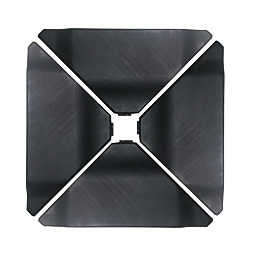 Abba Patio 4Pcs Offset Umbrella Base Plastic Cantilever Base Weights Plate Set, Water&Sand Filled Umbrella Base for Cantilever Offset Patio Umbrella, 180lb Black