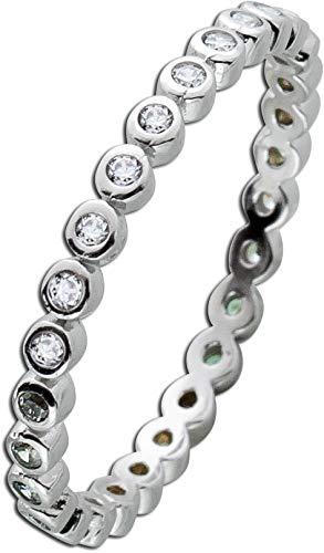 CH.ABRAMOWICZ Memoire Ring Silber Sterling 925 Zirkonia klar weiss (19)