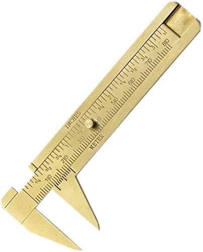 CWT Pies de Rey Balanzas Doble MM Pulgadas Vernier Caliper Wenwan Vernier Caliper Ruler Mini Regla Herramientas de medición (0-80mm) Calibrador