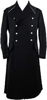 militaryharbor WW2 WWII German M32 Elite Black Wool Officer Overcoat