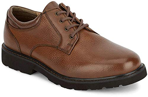 Dockers Mens Shelter Leather Rugged Casual Oxford Shoe - Wide Widths Available, Dark Tan, 14 M