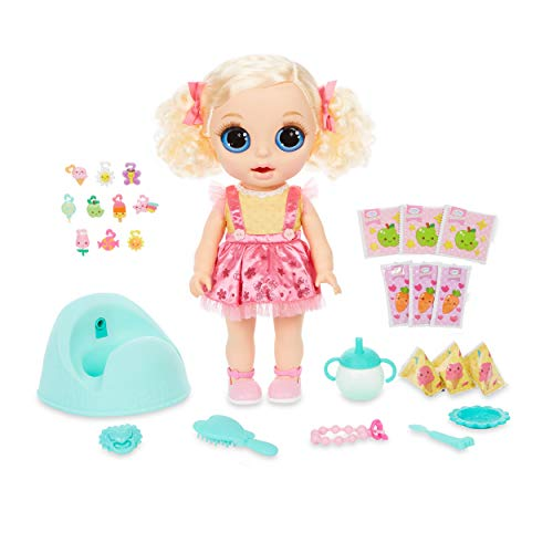 Baby Born Surprise Magic Potty Surprise Blue Eyes – Doll Pees Glitter & Poops Surprise Charms, Multicolored