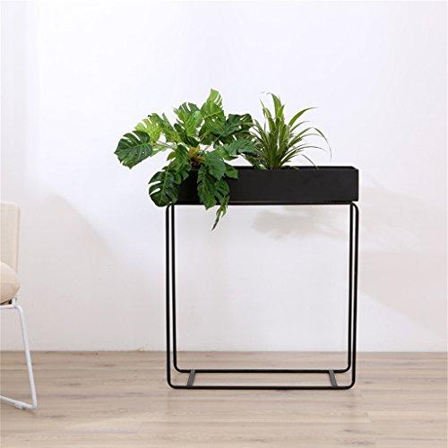 Cadre floral/Support pour plantes d'extérieur/Fleur Rack Gratuit Permanent Coloré Plant Pot Rack Plancher Présentoir Décoratif En Métal Fer Fleur Pot Étagère Pour Jardin Patio (HXWXD 60X60X25cm)
