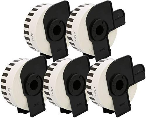5 x DK 22210 29mm x 30.48m Etiquetas continuas Compatible