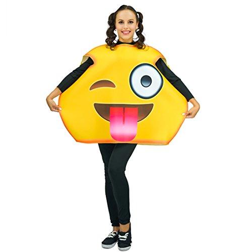 flatwhite Unisex-Erwachsener Erwachsene Unisex Emoticon Kostüme Einheitsgröße Zunge raus