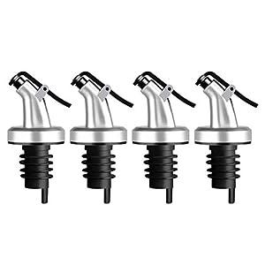BESTONZON 4 unids Vertedor de Acero Inoxidable para Botellas con Tapón