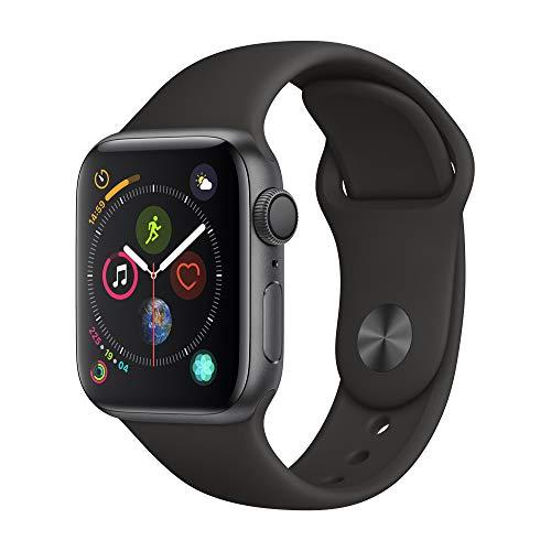 Apple Watch Seires 4 44mm (GPS) - Caja De Aluminio En Gris Espacial / Negro Correa Deportiva (Reacondicionado)