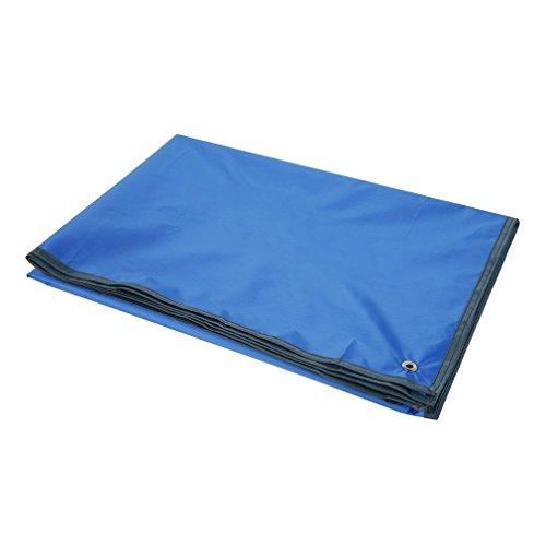 002fr OUTAD Lona portátil Impermeable para Acampar para picnics Carpa Huella y sombrilla Azul