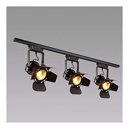 XXE Focos De Carril Led, Hierro Negro Mate Techo Spots Loft Proyector De Cine Lámpara LED Focos Spotbars Luz Pendiente