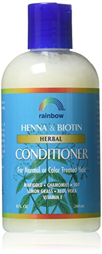 Rainbow Research Henna & Biotin Herbal Conditioner for Normal or Color Treated Hair - 8 Oz