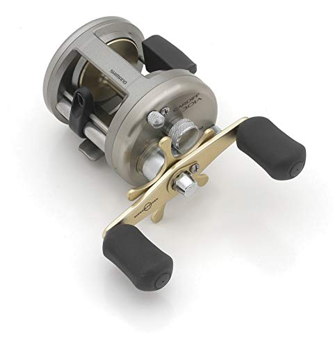Shimano Cardiff Baitcast-Rolle 4+1 Kugellager (5,8:1), Unisex, CDF301A, 301A (Left Hand)