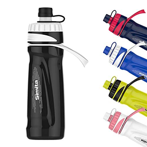700ml 23oz Botella de agua para ciclismo sin BPA, botella exprimible, botella para beber de bicicleta para motociclista, negro