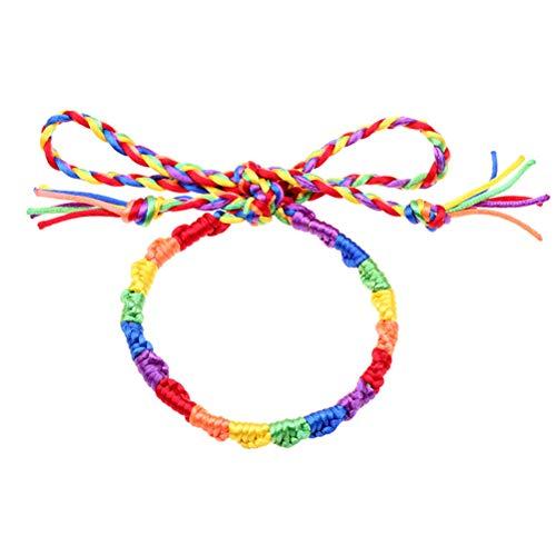 FENICAL - Pulsera arcoíris Tejida con Orgullo para Mujeres y Hombres