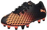 PUMA Spirit III FG JR, Zapatillas de fútbol Unisex niños, Negro Black/Shocking Orange, 30 EU