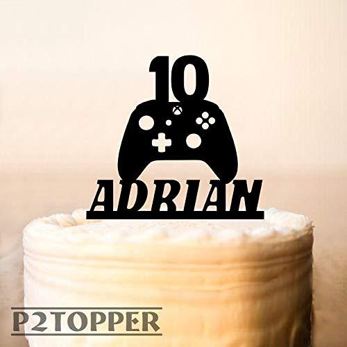 Gamer Tortenaufsatz, Game-Controller, Xbox Tortenaufsatz, Geburtstagsparty, Controller-Gaming, Spiel-Party, Geburtstagskuchenaufsatz, Jungen-Geburtstagsparty