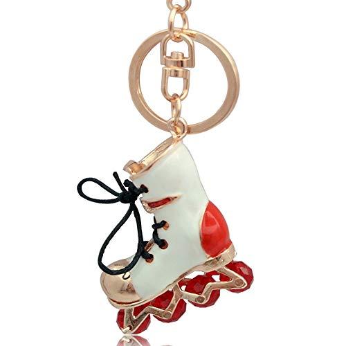 5 * 4 cm Neue 3D Rollschuhe Schlüsselbund Roller Schuhe Schlüsselanhänger Schlüsselhalter Abdeckung Frauen Handtasche Charme Anhänger Auto Schlüsselanhänger Schmuck