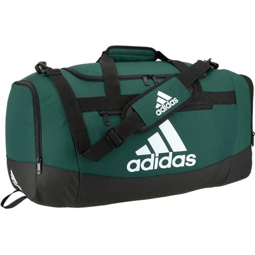 adidas Defender 4 Medium Duffel Bag, Team Dark Green, One Size