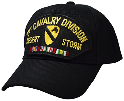 Military Productions 1st Cavalry Division Desert Storm Cap Black