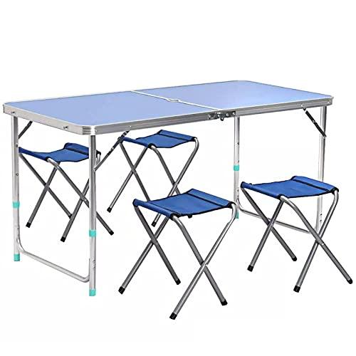 Juego de mesa y silla para exteriores Mesa y silla portátiles para...