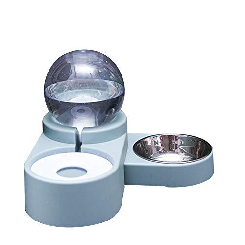 Katzen Trinkbrunnen - Hundenapf, Bubble Pet Feeder Trinkwasser Fütterung Dual Use Double Bowl Kugelförmiger Wasserkocher Nicht Nass Mund Becken Brunnen Für Haustier Katze Hund Wasserspender