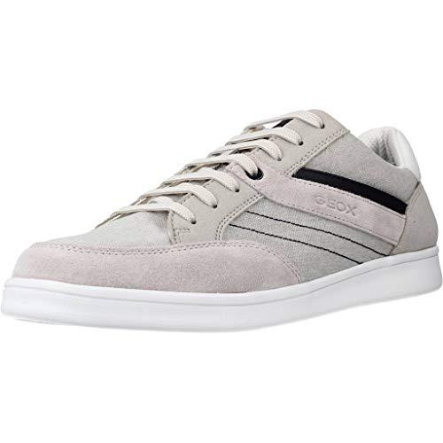 Geox Hombre Zapatos de Cordones U WARRENS, de Caballero Calzado Deportivo,Zapato con Cordones,Calzado de Exterior,Ocio,Grau,45 EU / 10.5 UK